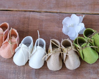 """Length of sole - 5cm (1,97""""). Handmade Shoes. shoes for dolls. Shoes for dolls. Shoes for dolls OOAK. Leather doll shoes. Puppet clothes."""