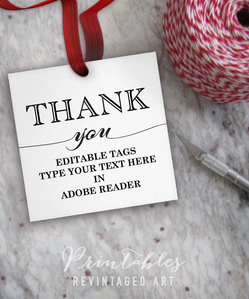 Thank You Tags For Favors Wedding Tags Showers Parties Gifts