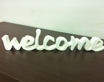 home decor  welcome sign - front door sign -  wood sign  - welcome beach decor