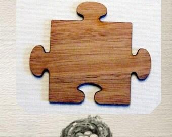 Puzzle Piece Wood Cut Out - Laser Cut