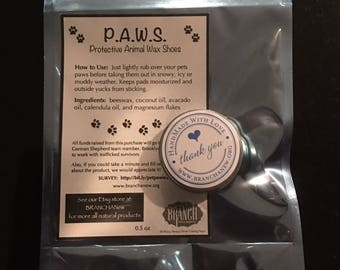 P.A.W.S. - Protective Animal Wax Shoes (0.5 oz)