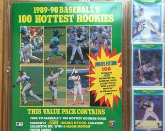 1989-90 Baseball's 100 Hottest Rookies Value Pack Score Rising Star Set + Magic Motion Cards