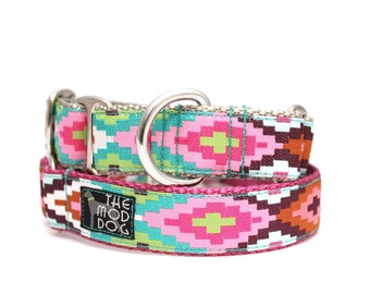 "1"" Cayucos Pink buckle or martingale collar"