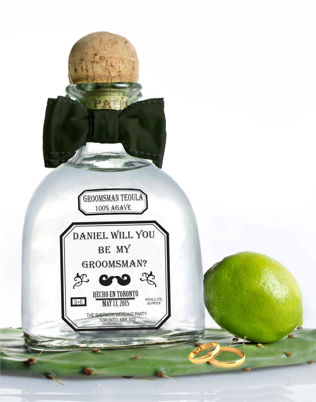 Personalized Tequila Labels Wedding Gift