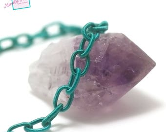 "0.9 m ethnic cord ""buckle"", emerald green"