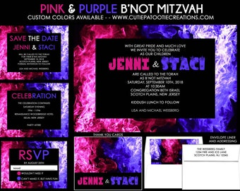 Bnai Mitzvah Invitation Fire and Ice B'nai Mitzvah Invitations Bar Mitzvah Bat Mitzvah Sweet 16 Quinceanera - Use for ANY EVENT