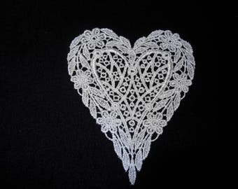 Venise Lace Heart - Lot of 6