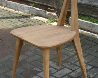 Retro Butterfly-inspired Teak Chair