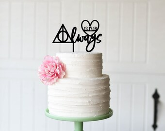 Harry Potter Wedding Cake Topper, Always Cake Topper, Cake Topper for Harry Potter Wedding Cake, After All This Time Always Cake Topper