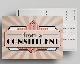 From a Constituent—a Postcard for Resistance Congress senate representative democracy justice equality representation truth antifa resist