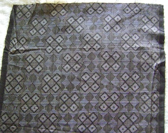 Beautiful Vintage Ohshima Tsumugi Faric From Kimono in Delicate Brown Patterns