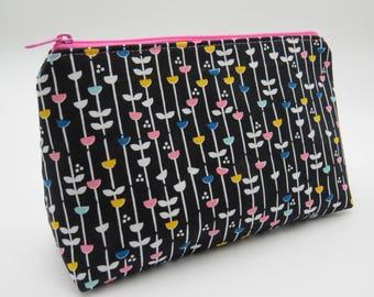 SALE Cosmetics Pouch Bag Make Up Toiletry Cotton Zip Top YKK Zip
