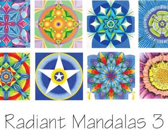 Set 3 Mandala Cards -  Reproductions of Original Acrylic Paintings.