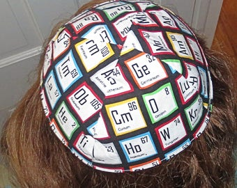 Atomic Elements Science kippah periodic table elements yarmulke study science kippah be a scientist yarmulke great gift science is awesome