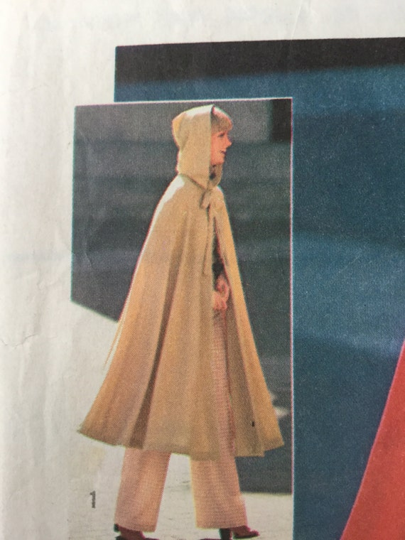 1960s Hooded Cloak, Vintage Sewing Pattern, Simplicity 6839, Misses ...