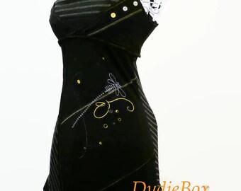 Sexy Slinky black dress babydoll LMV
