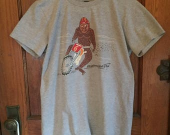 Bigfoot T-shirt Sasquatch T-shirt, Sasquatch Funny T Shirts for Men and Women. Iknowsquatch