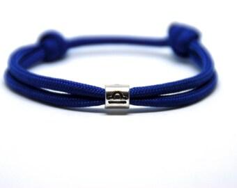 Horoscope Mens Womens bracelet - ZODIAC Bracelet - Blue Rope Bracelet - Paracord Bracelet - Single Wrap Bracelet -  Gift idea for him/her