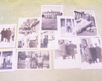 25 black and white photos photographs snapshots World War II WWII New York NY Gar John Ward serviceman 1940s