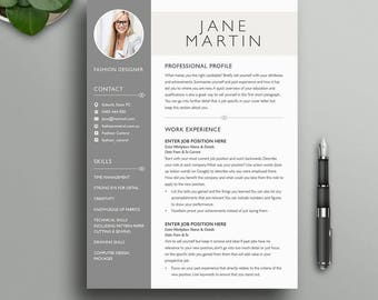 Boutique Resume Template 7 | Modern, Simple, Creative, Professional CV With  Photo |
