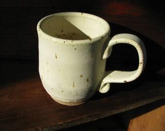White: Handmade, Ceramic, Stoneware, Coffee Mug, Pottery