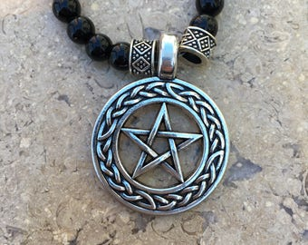 Pentacle Pendant with Chrysocolla