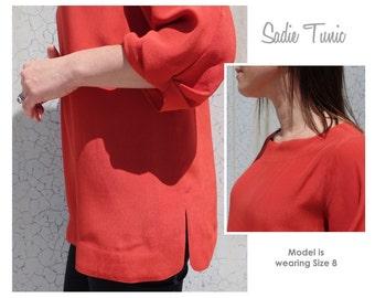 Style Arc Sewing Pattern - Sadie Tunic - Sizes 10, 12, 14 - Women's Stylish Tunic - PDF Sewing Pattern