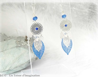 Earing romantic blue