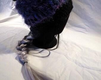 Fuzzy Purple Winter Hat