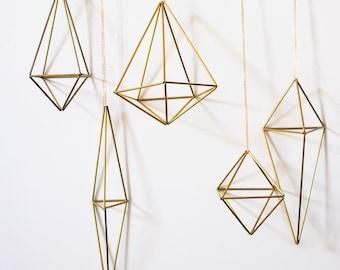 5 Brass Himmeli - Geometric Art | Wedding Decorations | Nursery Decor | Brass Mobile | Modern Wedding | Geometric Wedding | Wedding Gift