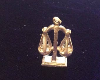 Sterling silver justice will be done charm vintage # 1143