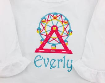 Ferris wheel ruffle shirt