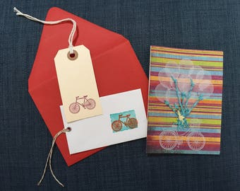Bicycle Card and Gift Tag Set
