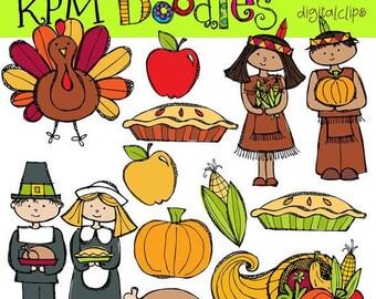 KPM Thanksgiving Digital Clip art COMBO