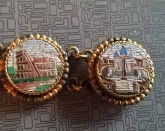 Antique Victorian Micro Mosaic Bracelet