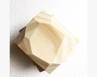 Geometric Wood Coaster Set- Pine