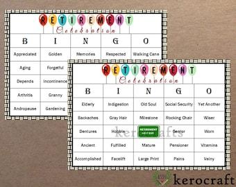 RETIREMENT PARTY BINGO - 40 Cards