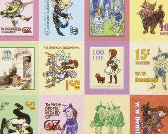 The Wizard of Oz Sticker Stamps Craft Vintage Paper Cartoon Stamp