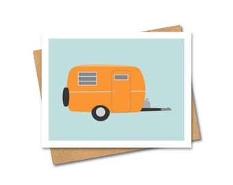 Vintage Travel Trailer Card - Note - Any Occasion