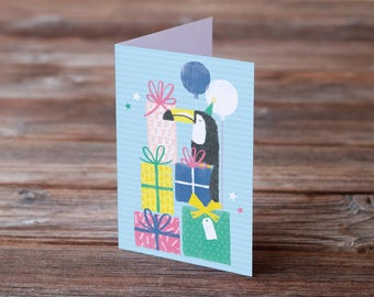 Toucan Illustration Birthday A6 Greeting Card