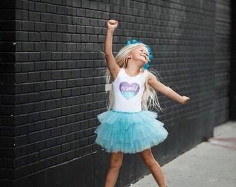 Mermaid Dress, Mermaid Tutu, Mermaid Birthday, Mermaid Party, Mermaid at Heart, Aqua Tutu, Under the Sea Party