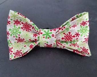 Let it Snow dog bow tie