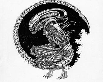 Alien, The 8th Passenger - Original Art - Ink