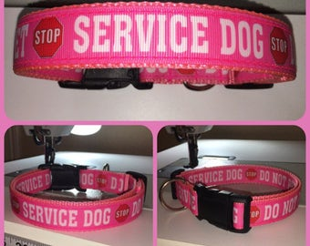 Service Dog Do Not Pet Collar Custom-Made To Order In Your Choice of up to  140 Different Color Combinations & Shipped Immediately