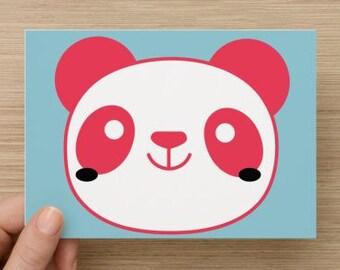 Pink panda card