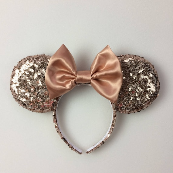 rose gold sequin minnie mouse ears sequin ears mickey mouse. Black Bedroom Furniture Sets. Home Design Ideas