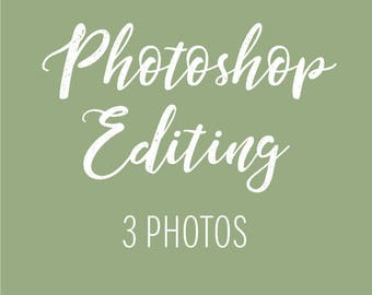 PHOTOSHOP Editing - 3 Photos for Infographic