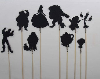 Beauty and the Beast Shadow Puppets