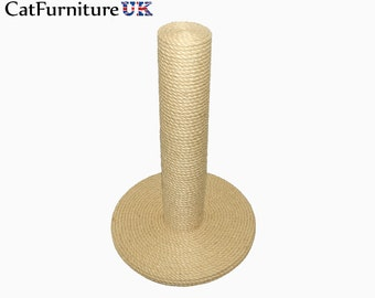 100% Sisal Large Cat Scratching Post Handmade in UK, High Quality Natural Material Used. Not cheap Chinese import