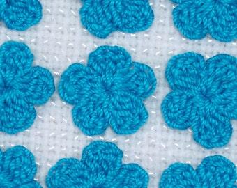20 handmade parakeet thread crochet applique flowers  -- 1760